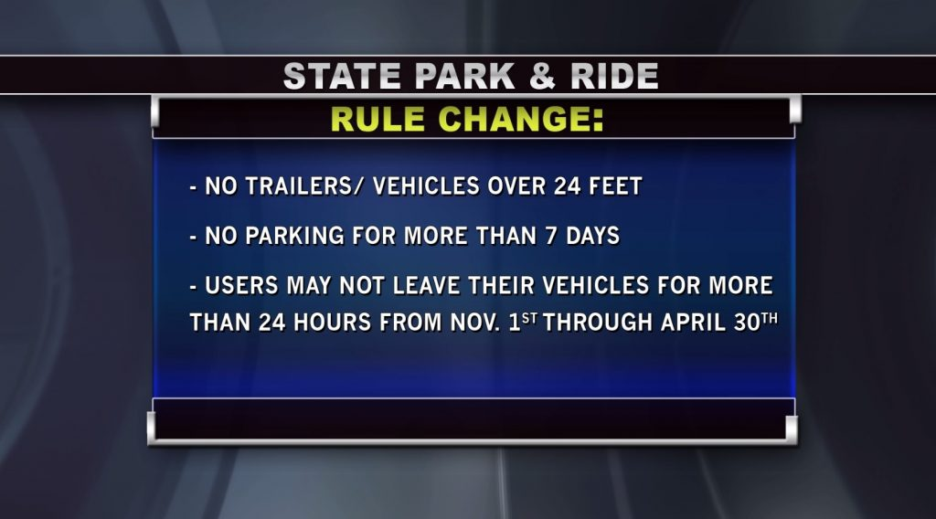 State's Park & Ride Rules Changes; Maine DOT Implement New Policies