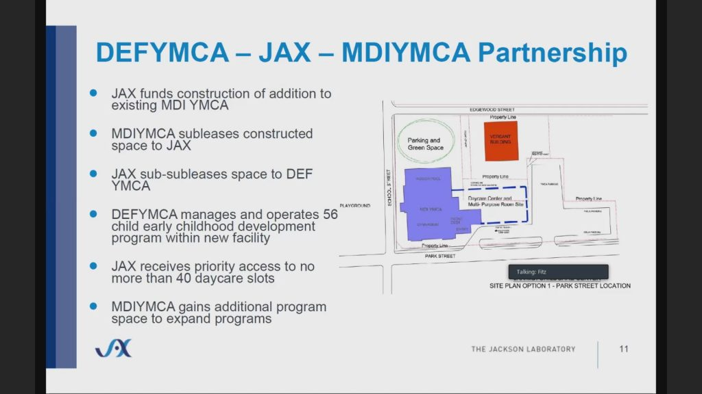 Jackson Lab working with YMCAs to create a daycare center