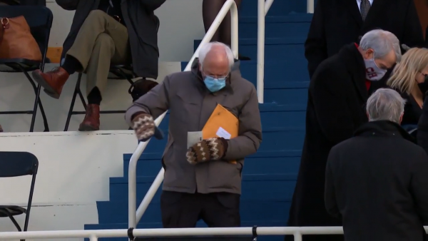 Bernie's mittens have Maine connection