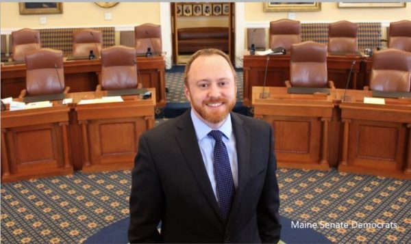Maine Senate majority leader steps back