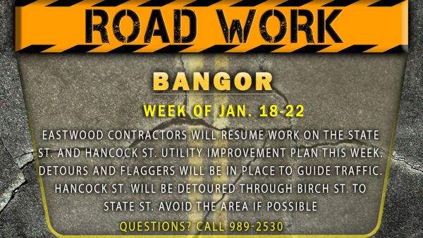 Utility work this week on State, Hancock streets