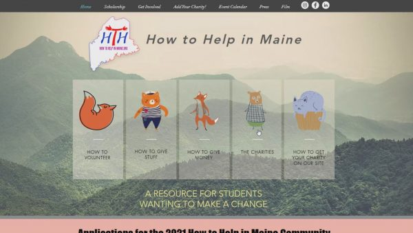 Two students form website to connect Maine high school students to statewide charities