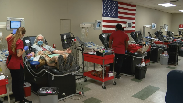 Blood donations in high demand