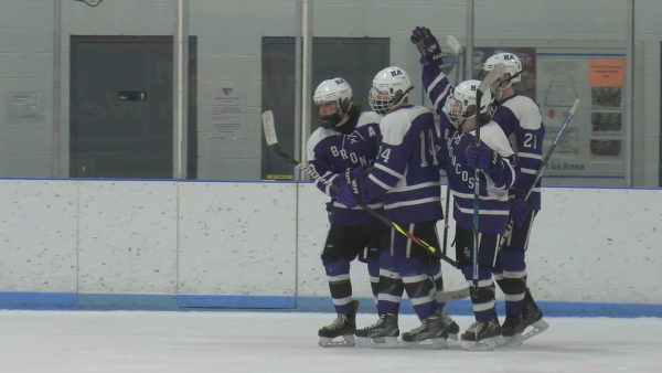 Hampden scores two unanswered goals to spoil Brewer hockey senior night