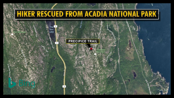 Hiker rescued from Acadia National Park trail