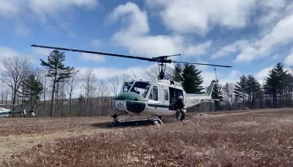 Maine Forest Rangers perform helicopter rescue mission training