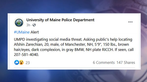 UMaine Police asking for the public's help after social media threat