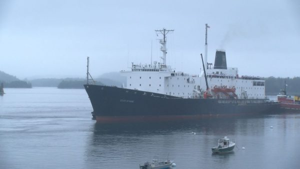 """Maine Maritime Academy's """"State of Maine"""" ship docks in Castine"""